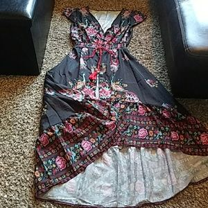 Peacock Button Up Open Dress